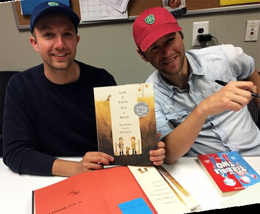 AUTHOR-AND-ILLUSTRATOR DUO MAC BARNETT AND JON KLASSEN KEEP STUDENT AUDIENCE IN STITCHES THROUGHOUT FRIDAY VISIT
