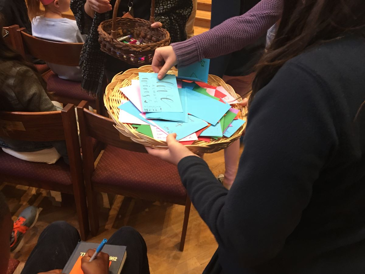Church activity with cards